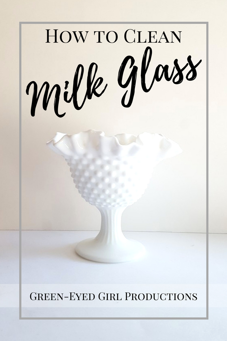How to clean Milk Glass the easy way. DIY How To Tutorial