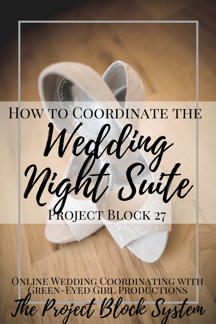 How to Coordinate your Wedding Night Suite. How to plan your wedding night. Where to stay on your wedding night.