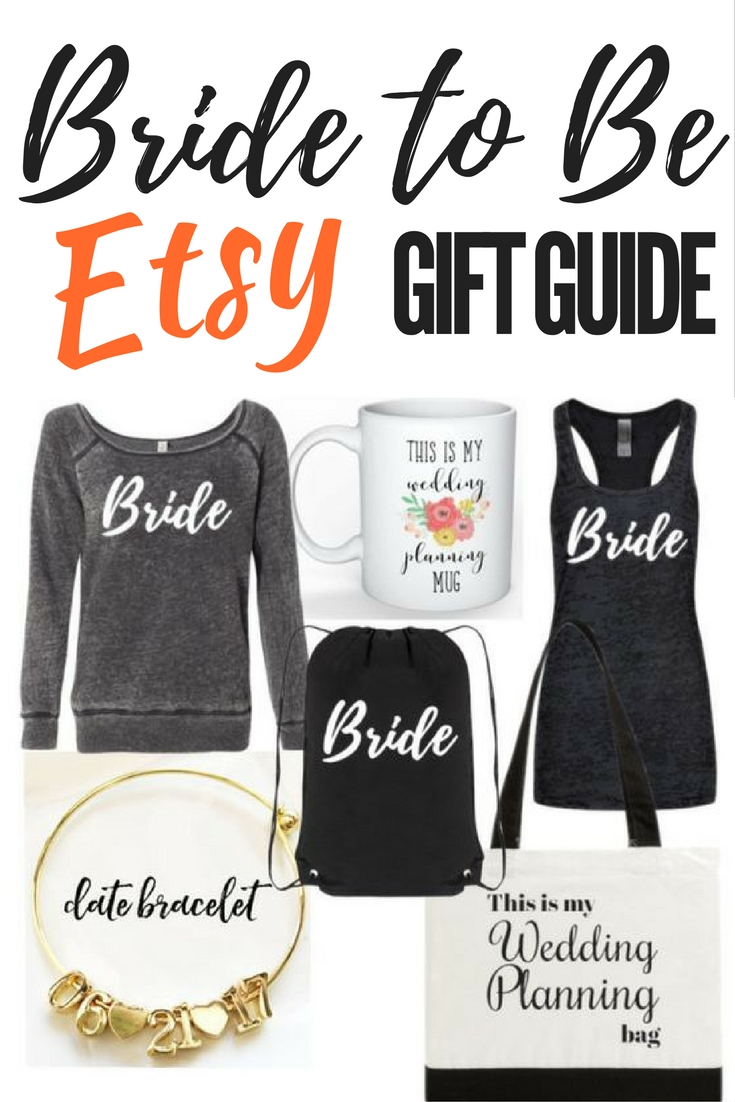 bride to be gift guide etsy
