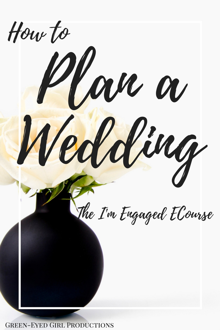 Plan your Wedding with the I'm Engaged ECourse. Free 2 Week Wedding Planning Online Class. Where to Start Planning a Wedding. How to Plan your own Wedding. Online Wedding planning Class. Wedding Resources. Wedding Coordinating