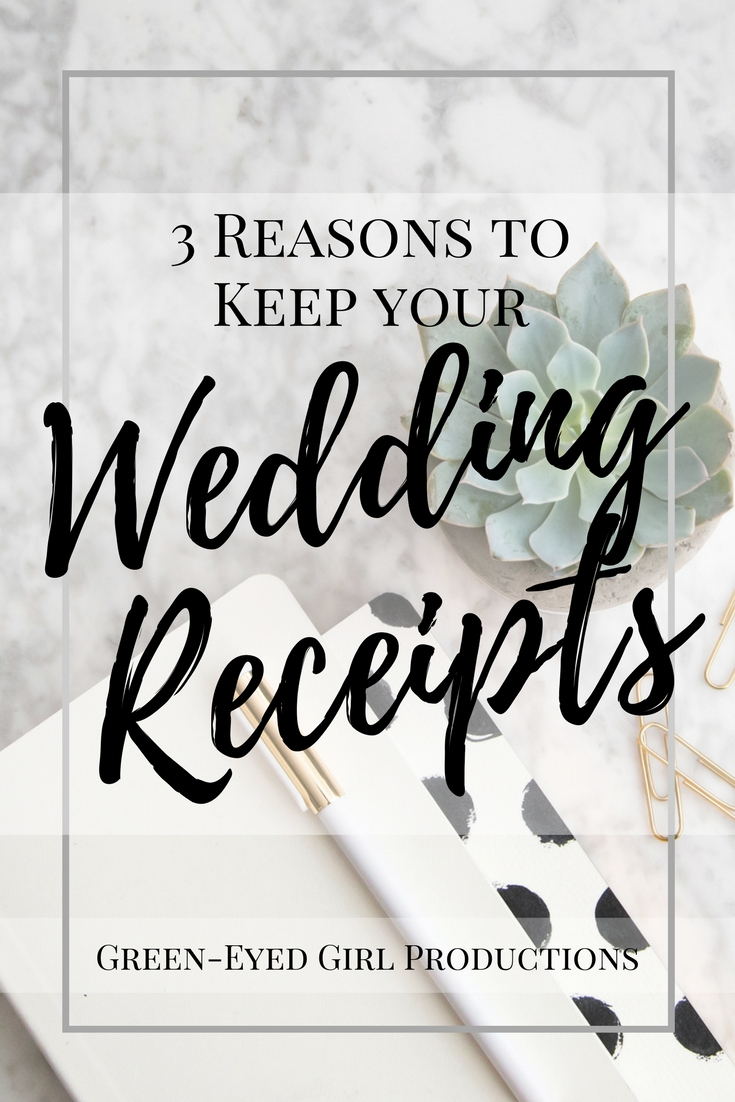 3 Reasons to keep your wedding receipts. Wedding Receipt organizing. Wedding Budget. Wedding Receipt Organizing. How to Budget a wedding. Cheap Wedding Tips. How to save money on your wedding. shoestring budget wedding. How to make money after your wedding. Wedding Resell. Wedding Budget tips.