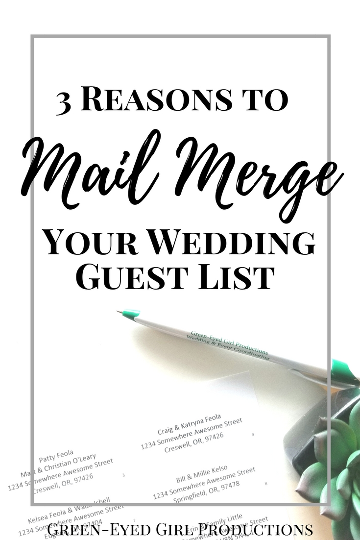 How to Mail Merge your Wedding Guest List Spreadsheet and why you should. Green-Eyed Girl Productions. Wedding Planning. How to Mail Merge with Microsoft Word. Mail Merging Labels. Addressing Wedding Invitations. Wedding Guest list How to. Wedding Guest List Spreadsheet.