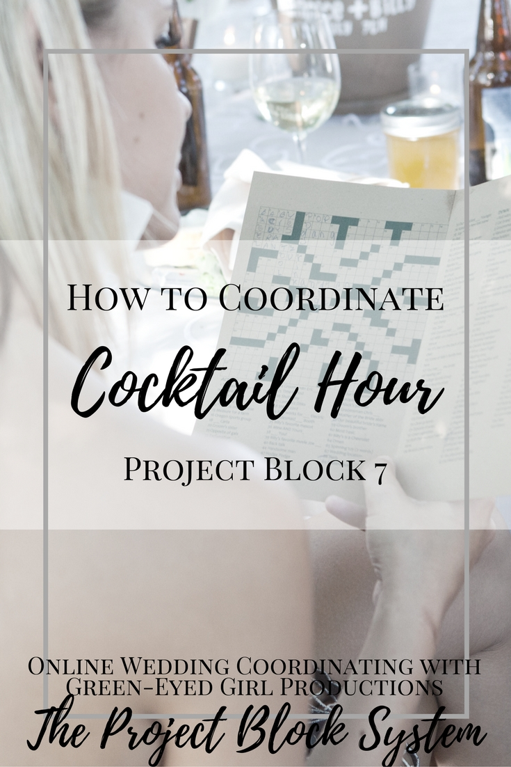 How to coordinate your Wedding Cocktail Hour. How to plan the Cocktail Hour. Wedding Cocktail Hour.