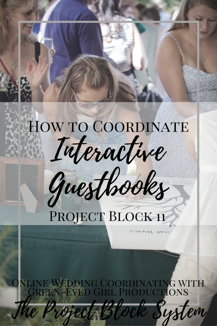 How to Coordinate Interactive Guest Books. Wedding Planning Advice. Wedding Planning how-t o How to plan a wedding. How to use a guestbook. Guestbook Ideas. Unique Guest Book Ideas